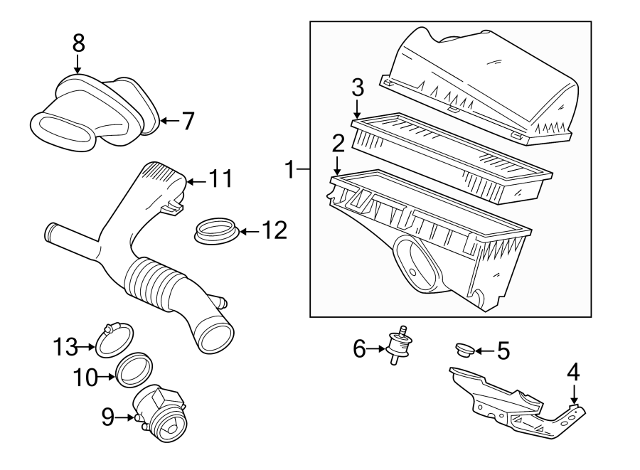 jaguar xj8 air filter housing grommet  mount  bracket