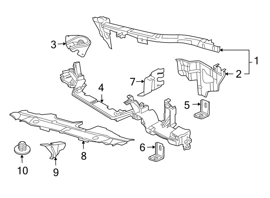 Jaguar Xjr Radiator Support Panel  Lower   Radiator
