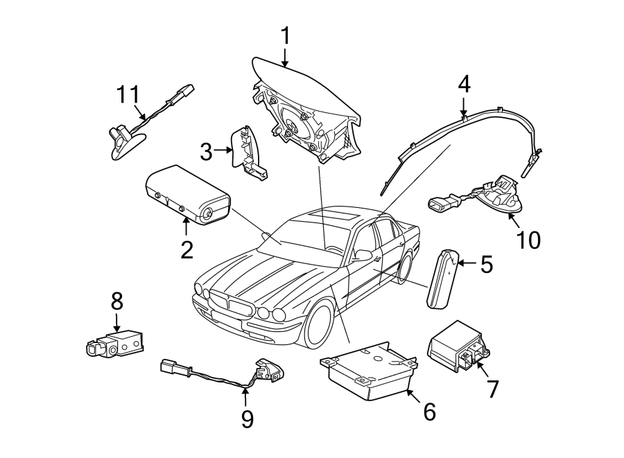 Jaguar Xj8 Air Bag Seat Sensor Mat  Air Bag Seat Sensor