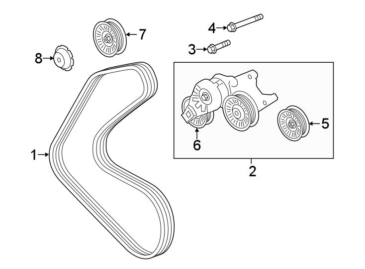 Jaguar Xjr Accessory Drive Belt Idler Pulley Cap  Liter