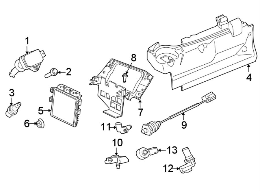 jaguar xjr bracket - module  ecm mount bracket  engine control module bracket