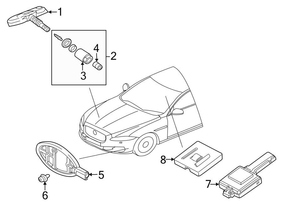 jaguar xf tire pressure monitoring system sensor nut