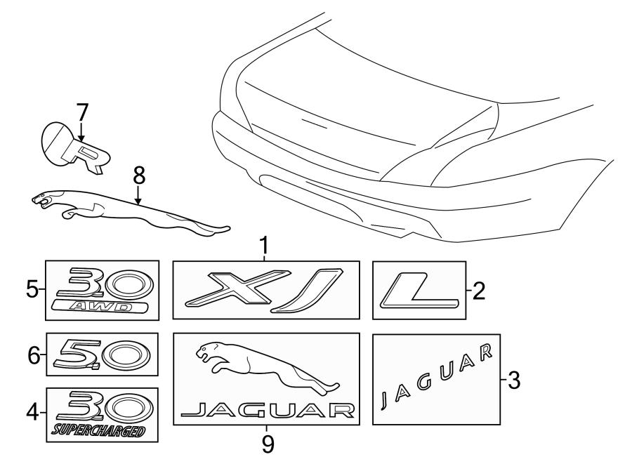 jaguar xjr body parts diagram