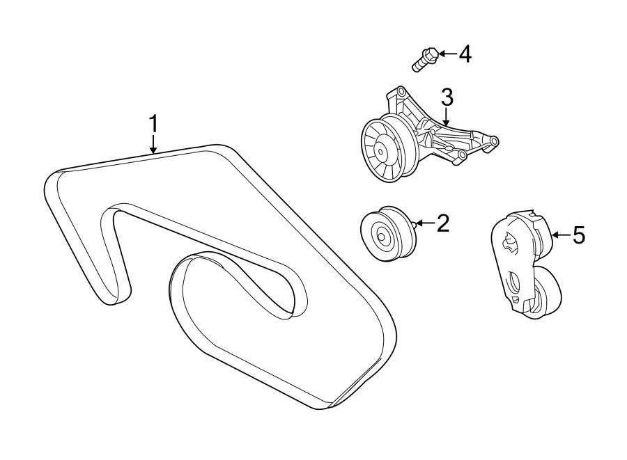 jaguar xj accessory drive belt tensioner assembly  serpentine tensioner  tensioner -