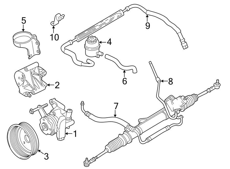 jaguar xk8 p  s cooler tube bracket  power steering cooler