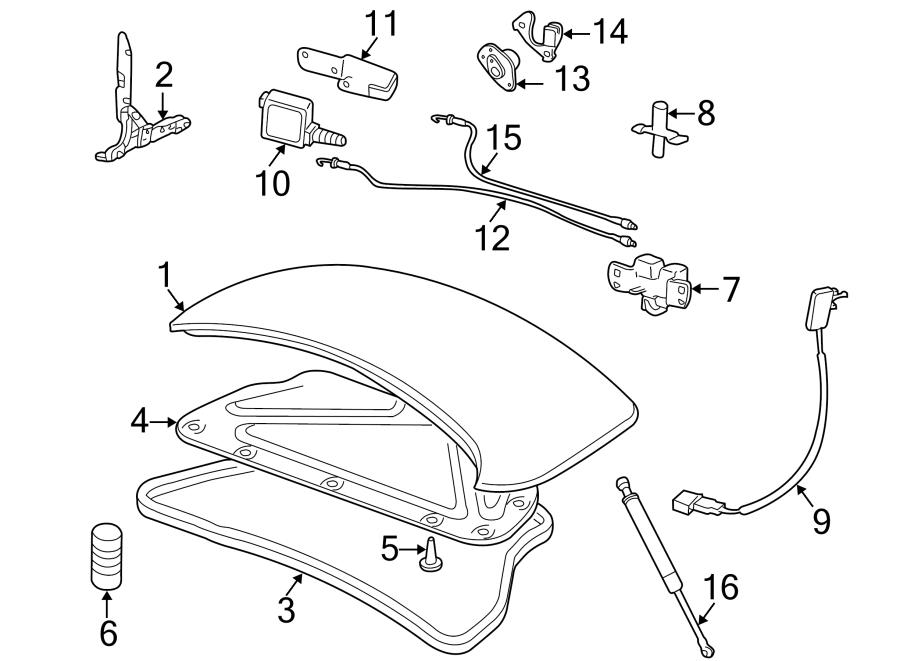 jaguar xk8 actuator  trunk  lock  left  motor  deck lid release solenoid  lift  from