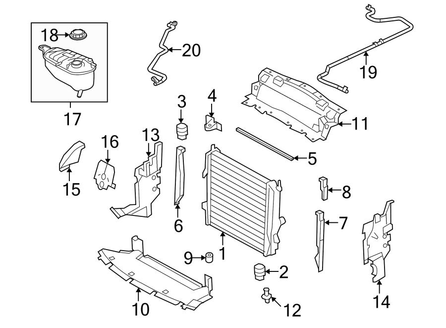 jaguar xkr engine coolant overflow hose 4 2 liter w o. Black Bedroom Furniture Sets. Home Design Ideas