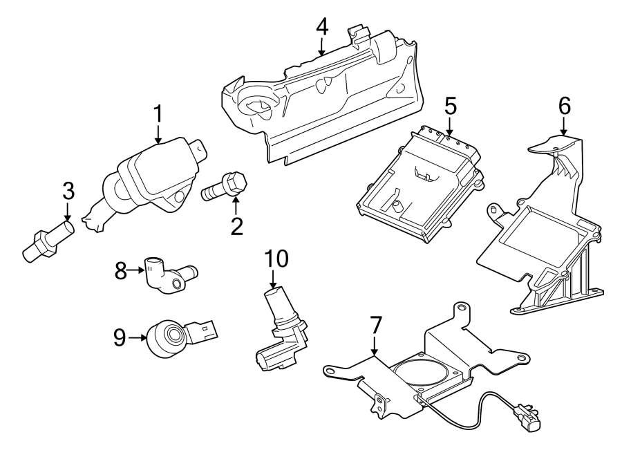 jaguar xkr-s direct ignition coil  liter  plug