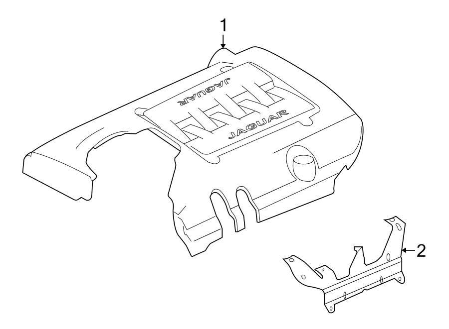 jaguar xkr engine cover supercharger rover land. Black Bedroom Furniture Sets. Home Design Ideas