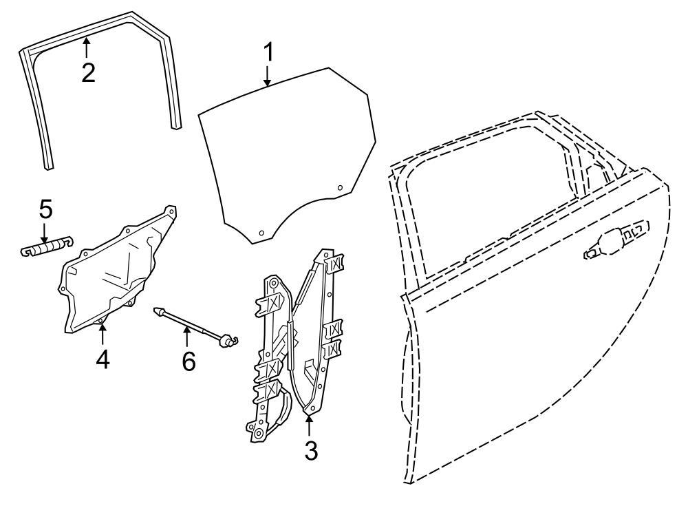 jaguar window regulator diagram