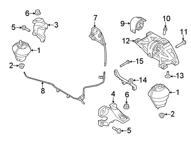 jaguar f type mount transmission bracket c2d38505. Black Bedroom Furniture Sets. Home Design Ideas