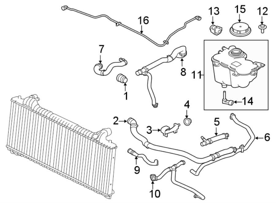 Jaguar Xe Hose  Coolant  Engine  Radiator  Liter  Gas