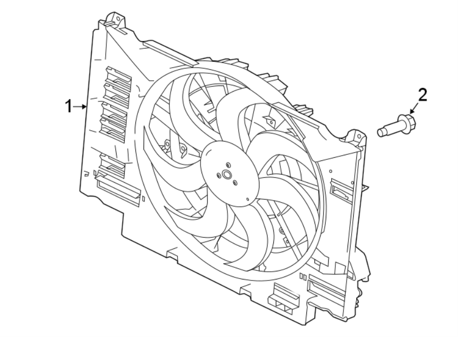 Jaguar Xe Engine Cooling Fan Assembly  Ingenium