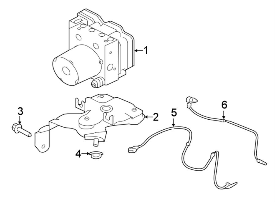 jaguar xe abs hydraulic assembly  modulator - abs  modulator valve  adaptive cruise