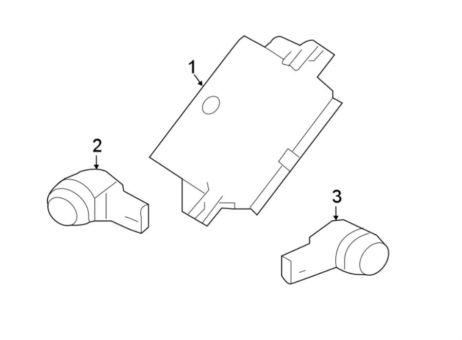 jaguar xf module control park sensor components xe. Black Bedroom Furniture Sets. Home Design Ideas