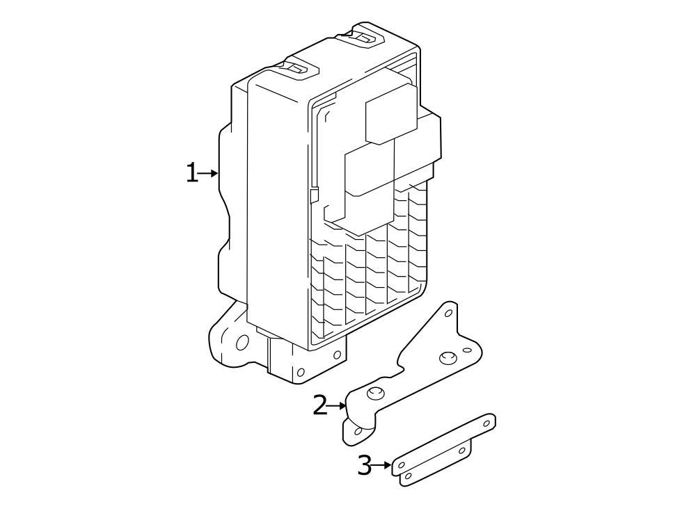 jaguar f pace body control module bracket bracket. Black Bedroom Furniture Sets. Home Design Ideas