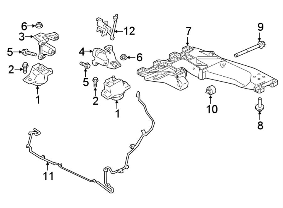 jaguar xe support - mount brake  transmission crossmember  transmission mount