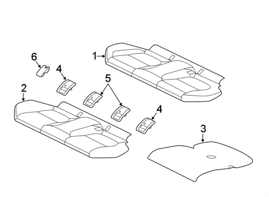 Jaguar Xe Seat Cushion Pad  Rear