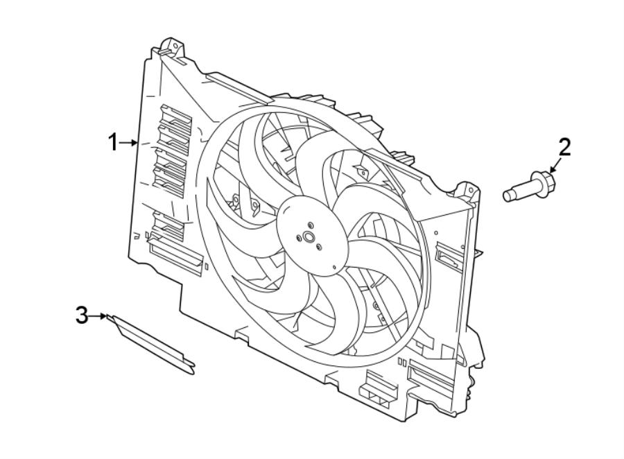 jaguar f-pace fan and cowl  fan and motor  fan assembly  2 0 liter gas  850w  f-pace