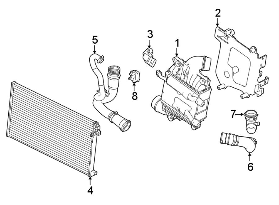 Jaguar Xe Intercooler  Gas  Liter  Radiator