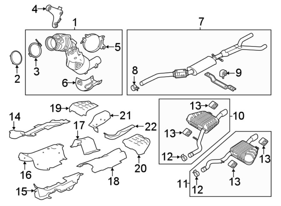 Jaguar Xe Clamp  Exhaust  Muffler  Intermed Pipe   Rear