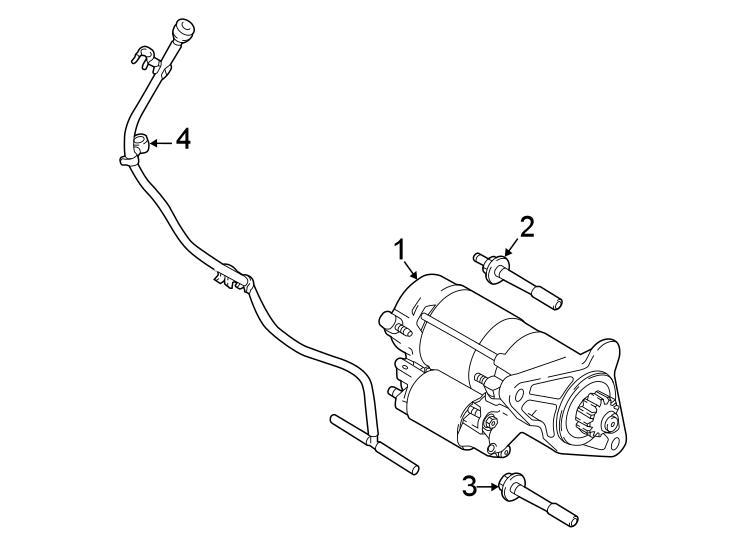 Jaguar E-pace Starter Motor  Motor - Starter