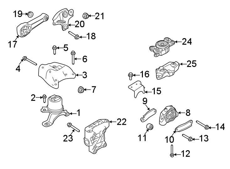 jaguar e pace automatic transmission mount bracket. Black Bedroom Furniture Sets. Home Design Ideas