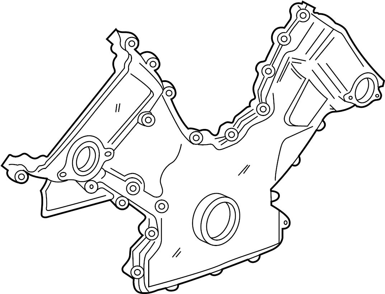 jaguar xk8 engine timing cover  front   supercharger  bearings  convertible