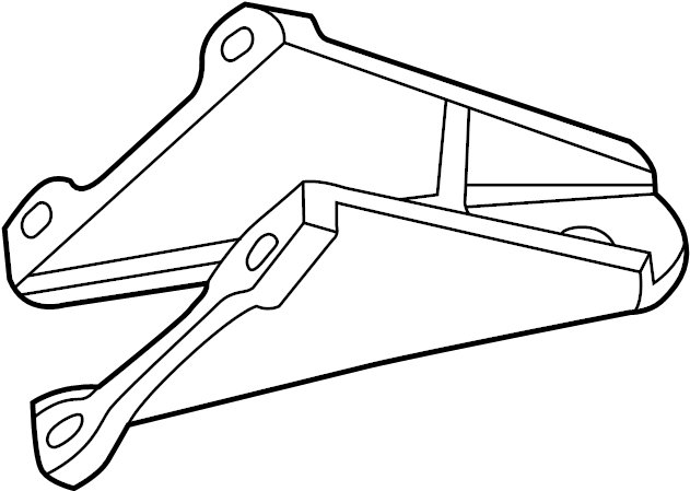 jaguar xj8 engine mount bracket  front   right