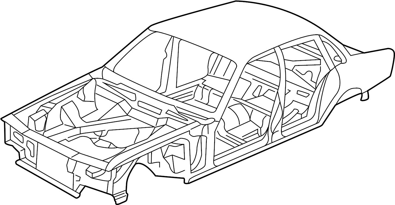jaguar xj8 body assembly  w  o sunroof  w  long wheelbase