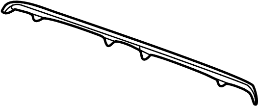 jaguar xj6 deck lid finish panel seal  front   fluted  plain
