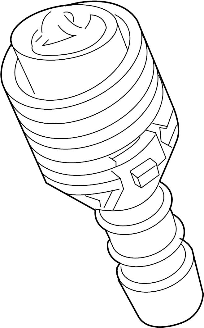 jaguar xjr washer  nozzle  headlamp  headlight  jet - powerwash  lmp cover  2004-07