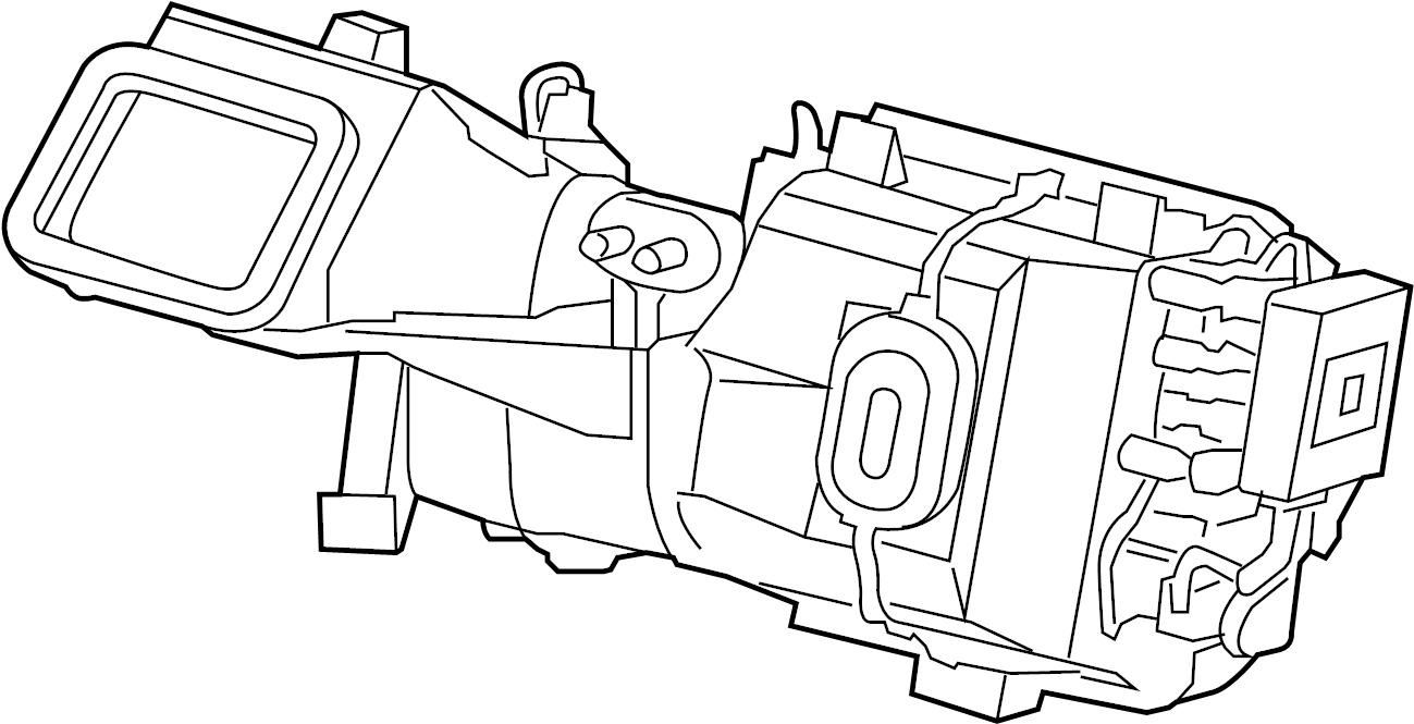 jaguar xj8 evaporator assy  hvac unit case  front  heater