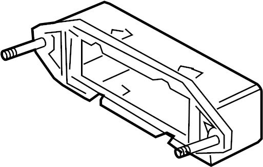 jaguar xj8 engine control module bracket  inner  mount