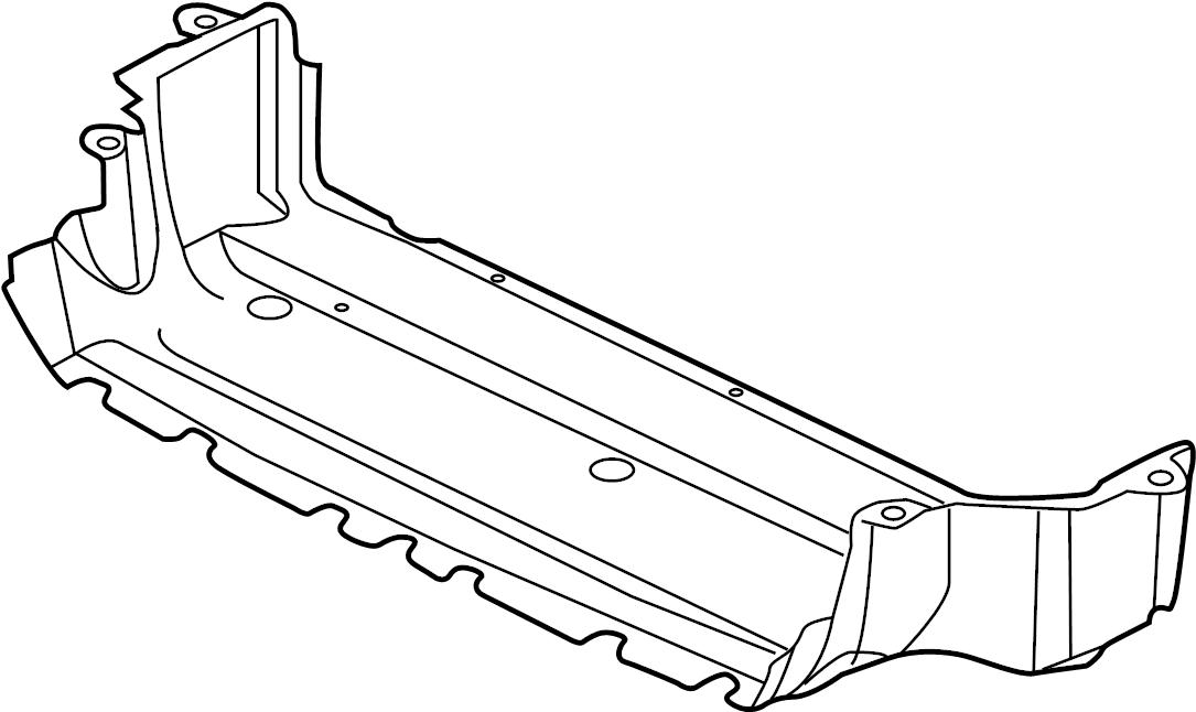 jaguar xj deflector shield  lower deflector  radiator support air deflector  shield