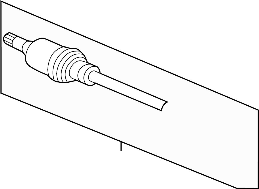 jaguar xj axle assembly  halfshaft  includes  shaft