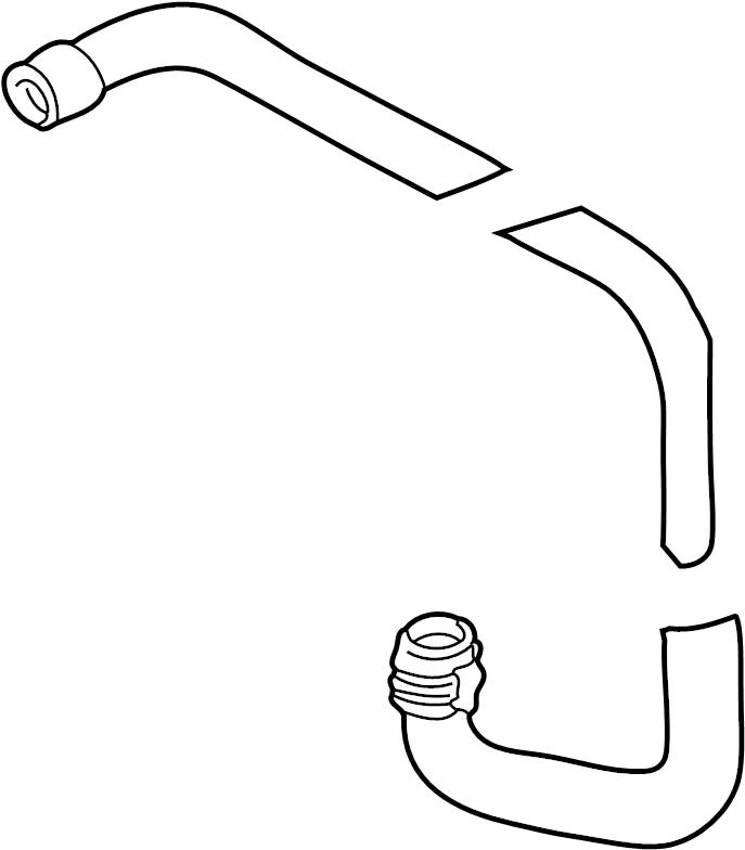 jaguar xk8 coolant hose  inlet hose  upper hose  outlet