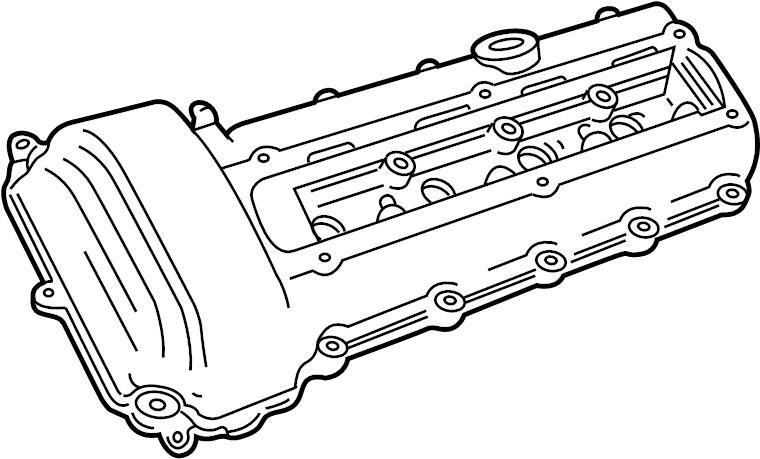 Jaguar Xk8 Engine Valve Cover  Valve Cover  Right  4 0l
