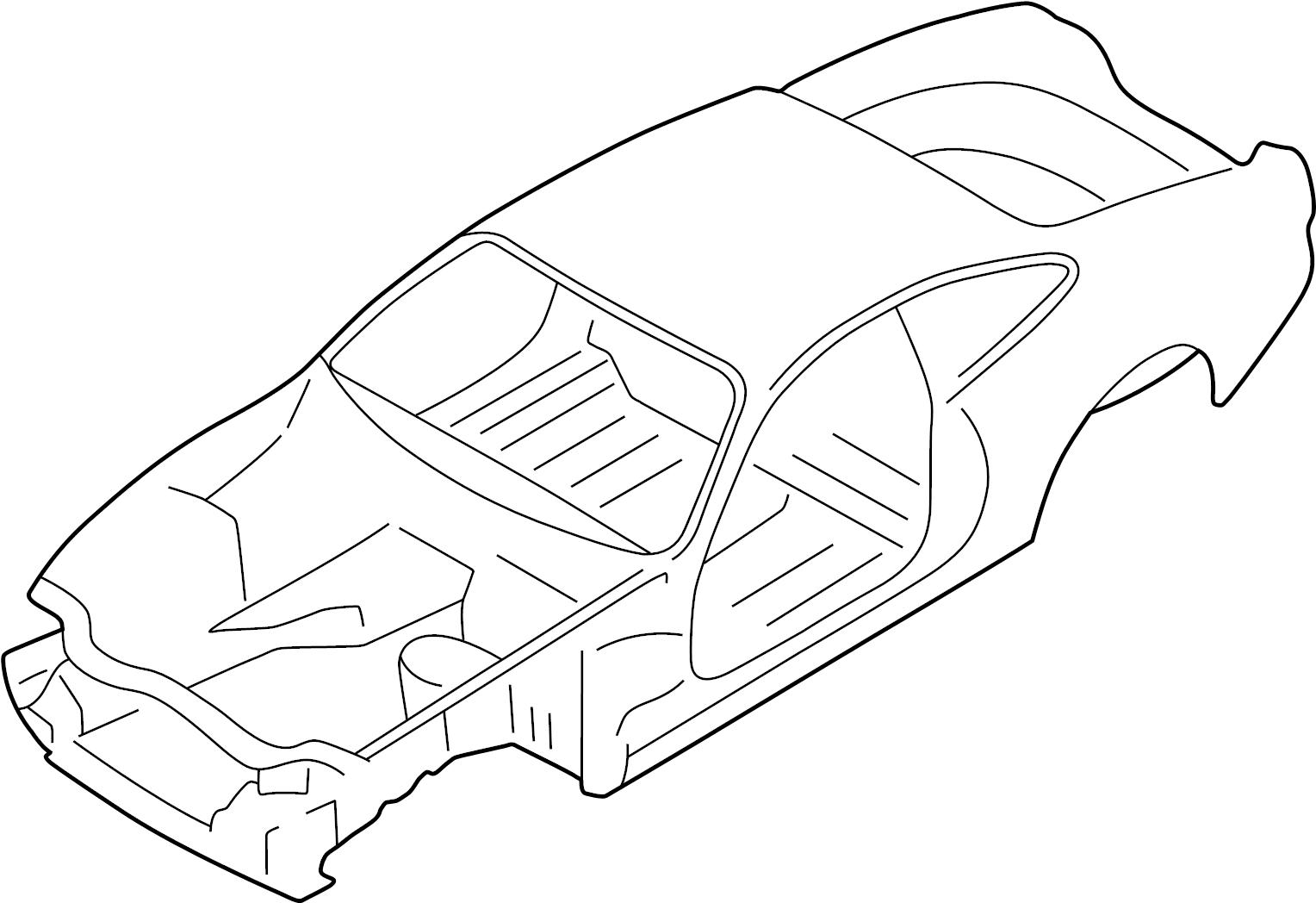 jaguar xk8 vehicle body shell