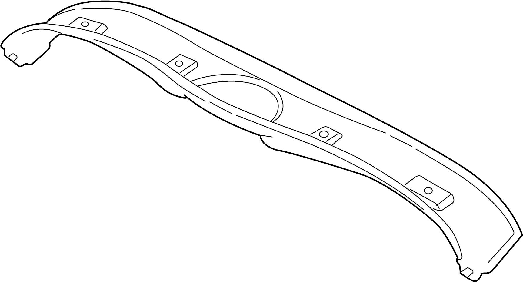 jaguar xk8 finisher  header trim  convertible  inner  gray