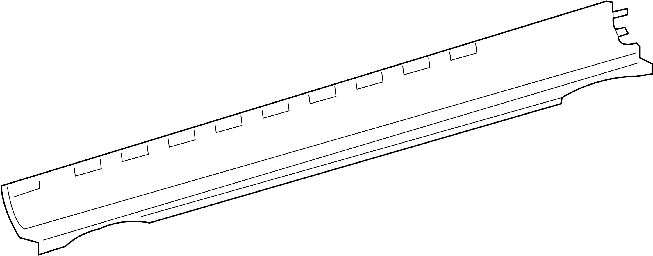 jaguar xk8 moulding - body si  rocker molding  rocker panel guard  sill molding