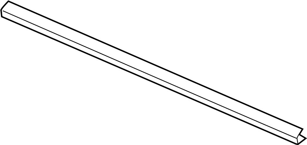 jaguar xk8 belt w u0026 39 strip  door window belt weatherstrip  seal - door waist  door