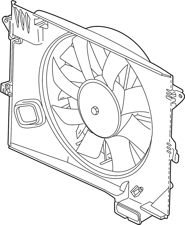jaguar s-type engine cooling fan assembly  motor  blade  belts