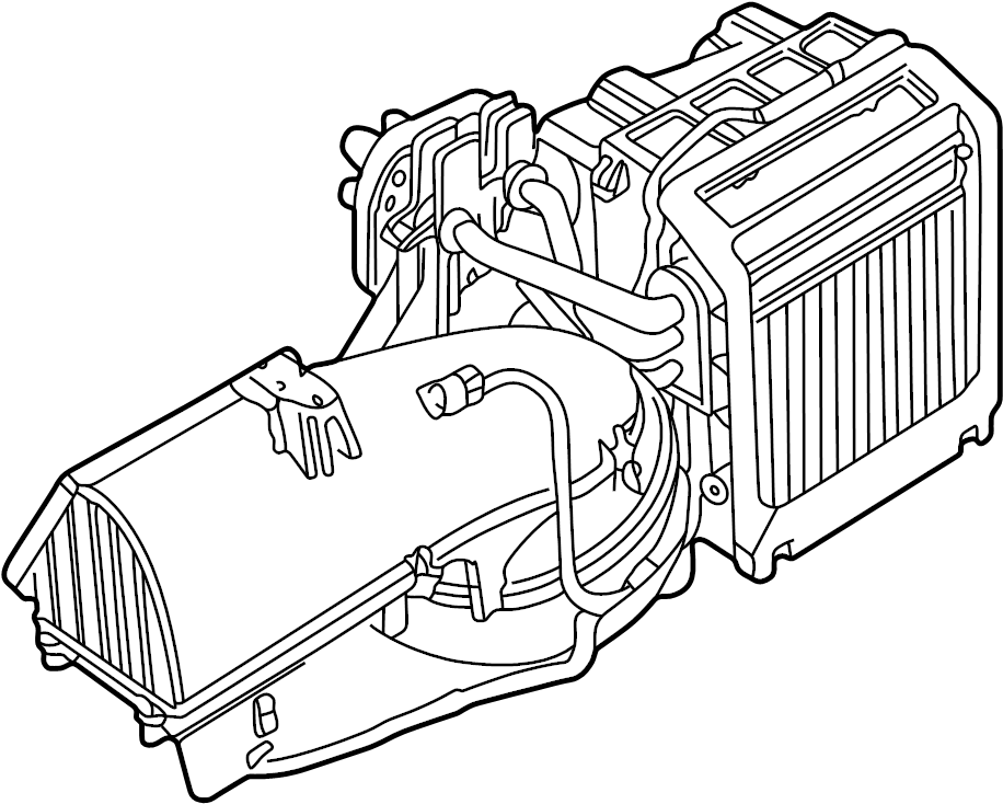 jaguar s-type ac and heater assembly  blower