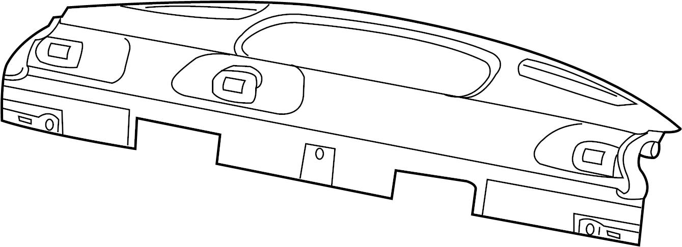 jaguar x-type package tray trim  shelf