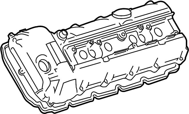 jaguar super v8 engine valve cover gasket  grade  left  supercharger