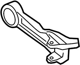 Jaguar XKR Arm-wishbone. Rear arm. Rr lwr cntl arm ...
