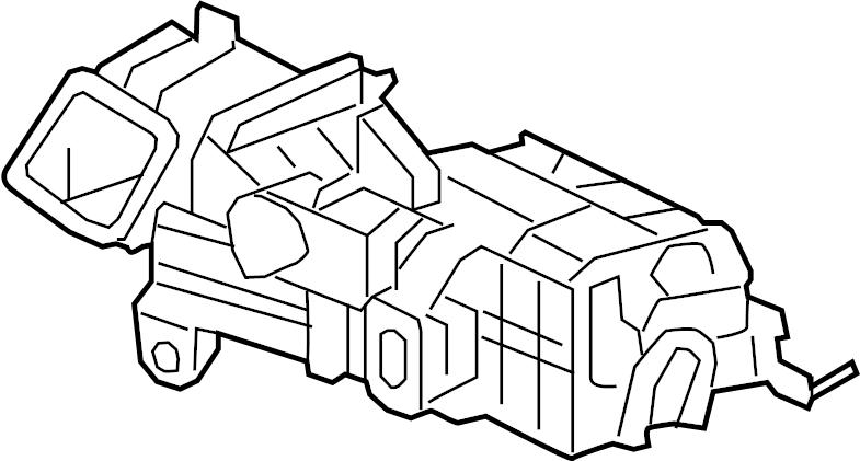 jaguar xf ac  u0026 heater assy  blower-evaporato
