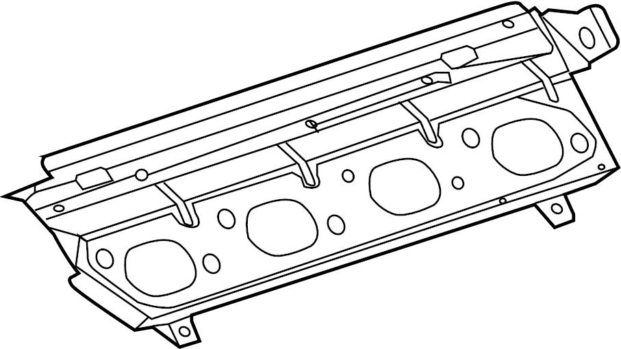 jaguar xf exhaust manifold gasket  exhaust manifold gasket  gasket - exhst man