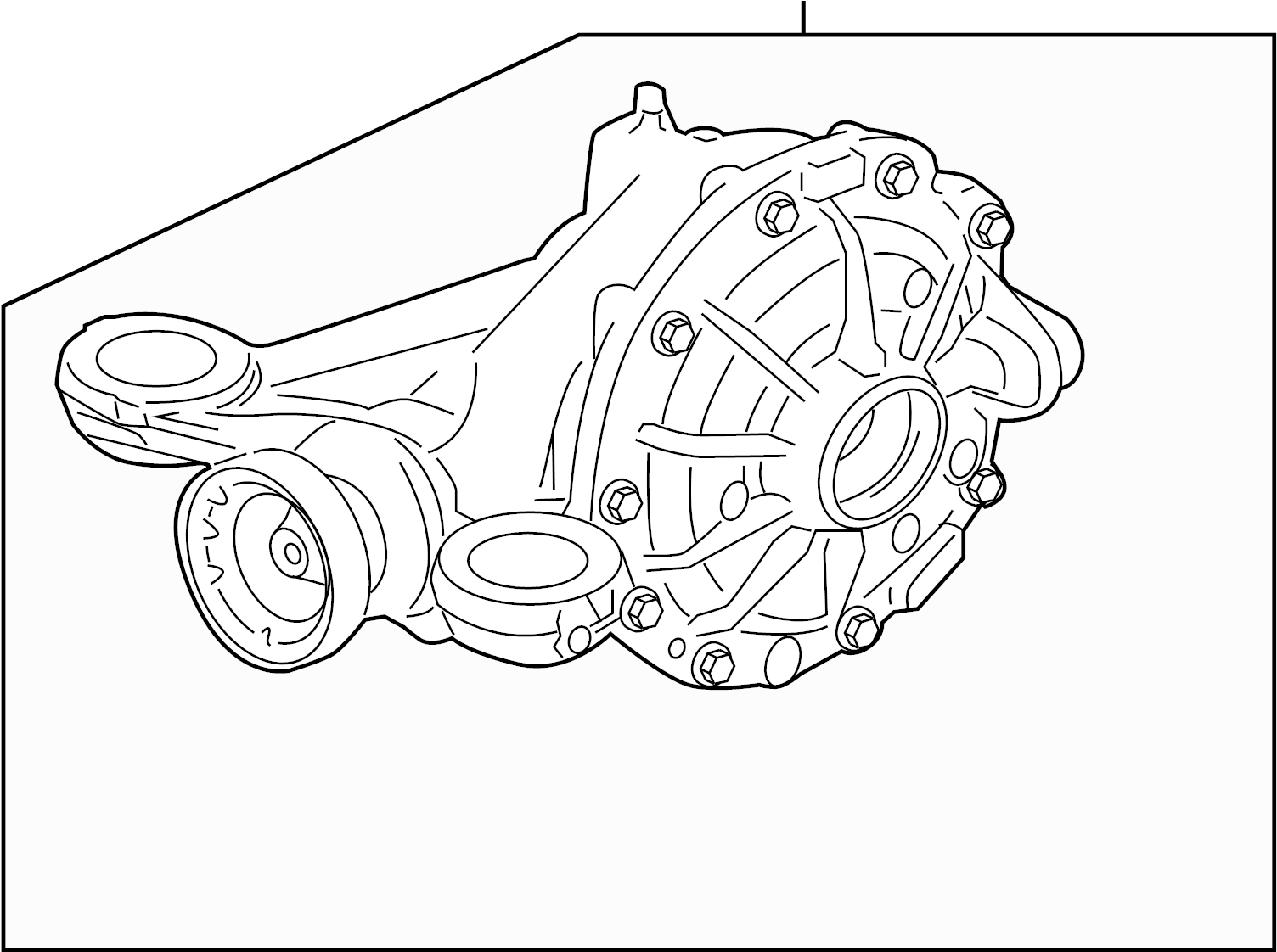 jaguar xf carrier  differential assembly  from vin r41866